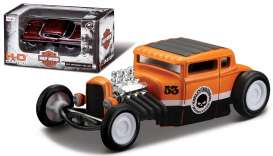 Maisto - Ford  - mai11380-06150 : 1929 Ford Model A *Harley Davidson*, black/orange