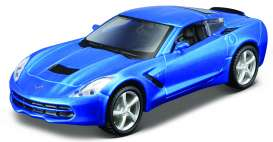 Maisto - Chevrolet  - mai12027b : 2014 Chevrolet Corvette Stingray Pull-Back, blue