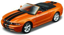 Maisto - Ford  - mai08012o : 2010 Ford Mustang GT Cabriolet Pull-back, orange/black