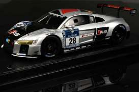 Audi  - R8 LMS #28 2015 white/silver - 1:18 - Paragon - 88102 - para88102 | The Diecast Company