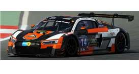 Paragon - Audi  - para88108 : 2016 Audi R8 LMS Optimum Motorsport #14 (GB) 4th 24 Hours Dubai Osborne/Haigh/ Ratcliffe/Haase, black/orange