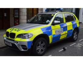 Paragon - BMW  - para91043 : 1/43 BMW X5 London Metropolitan Police Car, blue/yellow
