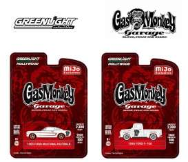 GreenLight - Ford  - gl51119~12 : 1965 Ford Mustang Fastback & 1956 Ford F-100 pick-up *Gas Monkey Garage*. Assortment of 12