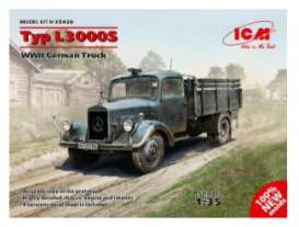 ICM - Military Vehicles Mercedes - icm35420 : 1/35 Typ L3000S WWII German Truck, plastic modelkit