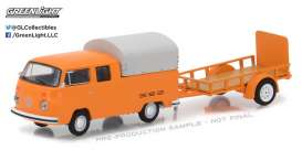 GreenLight - Volkswagen  - gl32110A : 1978 Volkswagen Double Cab with Canopy and Utility Trailer *Hitch & Tow Series 11*