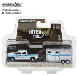 GreenLight - Ram  - gl32110D : 2017 Ram 2500 and Chicago Police Department Horse Trailer S *Hitch & Tow Series 11*