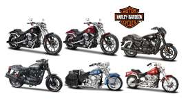 Maisto - Assortment/ Mix Harley Davidson - Mai34360-35~12 : 1/18 Harley Davidson Set 12 pieces.