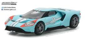 Ford  - 2017 light blue/orange - 1:64 - GreenLight - gl13200B | The Diecast Company