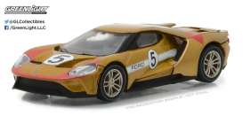 GreenLight - Ford  - gl13200C : 2017 Ford GT 1966 #5 Ford GT40 Mk II Tribute *Ford GT Racing Heritage Series 1* light copper/red