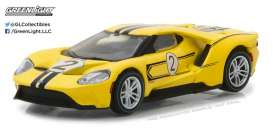Ford  - 2017 yellow/black - 1:64 - GreenLight - gl13200E | The Diecast Company