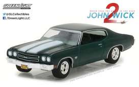 Chevrolet  - Chevelle SS 396 1970 green/white - 1:64 - GreenLight - 44780F - gl44780F | The Diecast Company