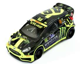 IXO Models - Ford  - ixram618 : 2012 Ford Fiesta RS WRC #46 Rally Monza Rossi/Cassina, yellow/black