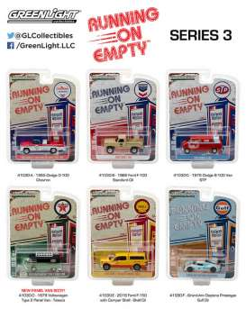 GreenLight - Assortment/ Mix  - gl41030~12 : 1/64 Running on Empty Series 3, Assortment of 12