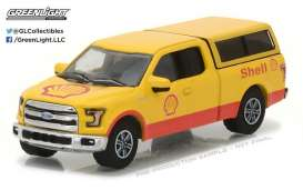 GreenLight - Ford  - gl41030E : 2016 Ford F-150 with Camper Shell *Shell Oil* Running on Empty Series 3, red/yellow