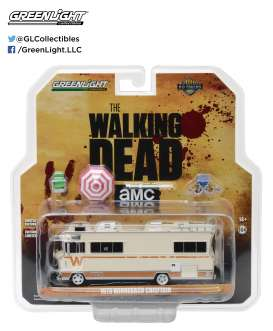 GreenLight - Winnebago  - gl33100B : Dales 1973 Winnebago Chieftain *The Walking Dead tv series (2010-15)* with Umbrella and Camping Chairs, H.D. Truck series 10
