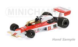 McLaren  - 1976 orange/white - 1:18 - Minichamps - mc186760011 | The Diecast Company