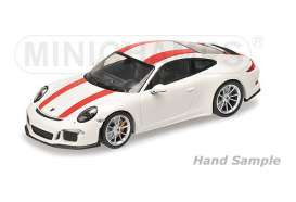 Porsche  - 2016 white/red stripes - 1:12 - Minichamps - 125066320 - mc125066320 | The Diecast Company
