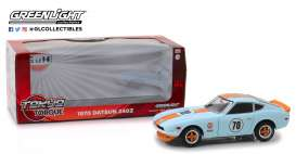 Datsun  - 240Z 1970 gulf blue/orange - 1:24 - GreenLight - 18302 - gl18302 | The Diecast Company