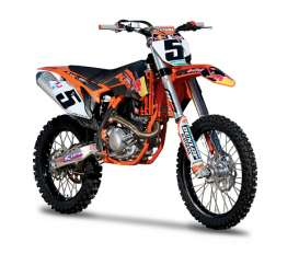 Bburago - KTM  - bura51072b : 2013 KTM 450 SX-F #5 Ryan Dungey, black/orange