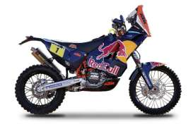 Bburago - KTM  - bura51071 : 2013 KTM 450 Rally #1 Cyril Desires Dakar Rally, blue