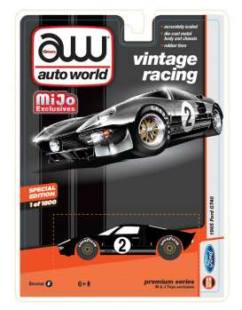 Auto World - Ford  - AWcp7432 : 1965 Ford GT40 Vintage Racing, black