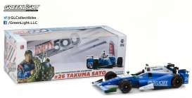 GreenLight - Honda  - gl11020 : 2017 Indianapolis 500 Winner T. Sato, blue/white