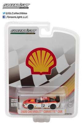 GreenLight - Chevrolet  - gl29907 : 2009 Chevrolet Corvette C6.R *Shell Oil*, white/orange/yellow