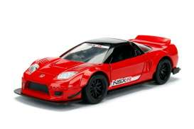 Jada Toys - Acura  - jada98571WA1r : 1/32 2002 Acura NSX Type R Wide Body JDM Tuners, glossy red