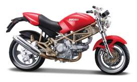 Bburago - Ducati  - bura51031 : 1/18 Ducati Monster 900, red