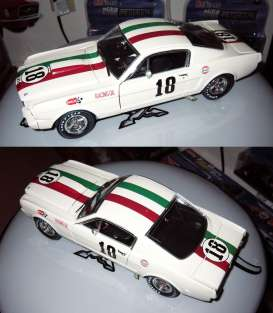 Shelby Collectibles - Shelby Ford - shelby357 : 1965 Shelby GT 350R #18 GP Mexico, white/red/green
