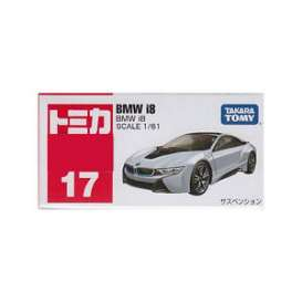 BMW  - i8 silver/black - 1:61 - Tomica - 017 - to017 | The Diecast Company