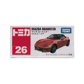 Mazda  - Roadster red - 1:57 - Tomica - 026 - to026 | The Diecast Company
