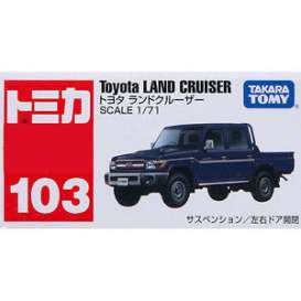 Toyota  - Landcruiser pick-up dark blue - 1:71 - Tomica - to103 | The Diecast Company