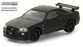 GreenLight - Nissan  - gl27930D : 2000 Nissan Skyline GT-R Solid Pack *Black Bandit Series 18*, black