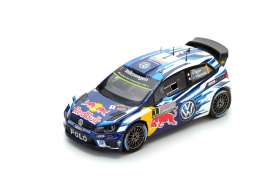 Volkswagen  - 2016 blue/yellow - 1:43 - Spark - s4971 - spas4971 | The Diecast Company