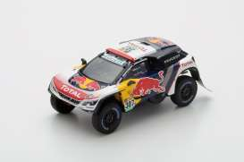 Peugeot  - 2017 white/yellow/red - 1:43 - Spark - s5612 - spas5612 | The Diecast Company