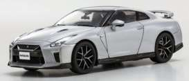 Kyosho - Nissan  - kyo3893s : 2017 Nissan GT-R (R35), metal silver