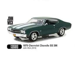 Chevrolet  - Chevelle SS396 1970 green/white - 1:18 - GreenLight - gl13505 | The Diecast Company