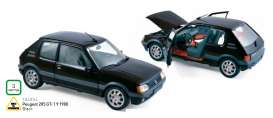 Peugeot  - 1988 black - 1:18 - Norev - nor184854 | The Diecast Company