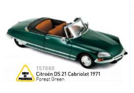 Norev - Citroen  - nor157080 : 1971 Citroen DS 21 Cabriolet, forest green