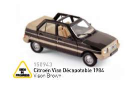 Norev - Citroen  - nor150943 : 1984 Citroen Visa Décapotable, vison brown