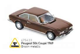Peugeot  - 1969 brown metallic - 1:43 - Norev - 475433 - nor475433 | The Diecast Company
