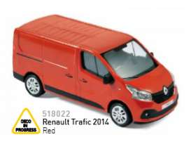 Norev - Renault  - nor518022 : 2014 Renault Trafic, red