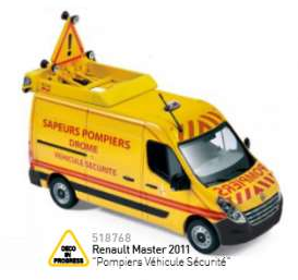 Norev - Renault  - nor518768 : 2011 Renault Master Pompiers Vehicule Securite, yellow/red