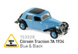 Norev - Citroen  - nor153028 : 1934 Citroen Traction 7A, blue/black