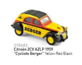 Citroen  - 2CV 1959 yellow/black/red - 1:64 - Norev - 310602 - nor310602 | The Diecast Company