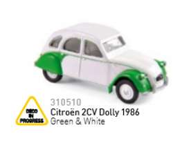 Norev - Citroen  - nor310510 : 1959 Citroen 2CV Dolly, white/green