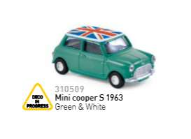 Mini  - Cooper S 1963 green/white - 1:64 - Norev - 310509 - nor310509 | The Diecast Company