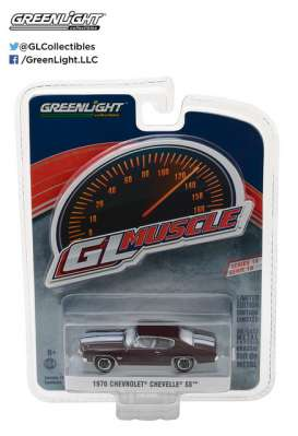 GreenLight - Chevrolet  - gl13190C : 1970 Chevrolet Chevelle SS 454 *Muscle Series 19*, black cherry