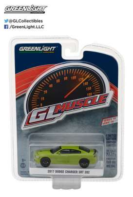 GreenLight - Dodge  - gl13190F : 2017 Dodge Charger SRT 392 *Muscle Series 19*, green go